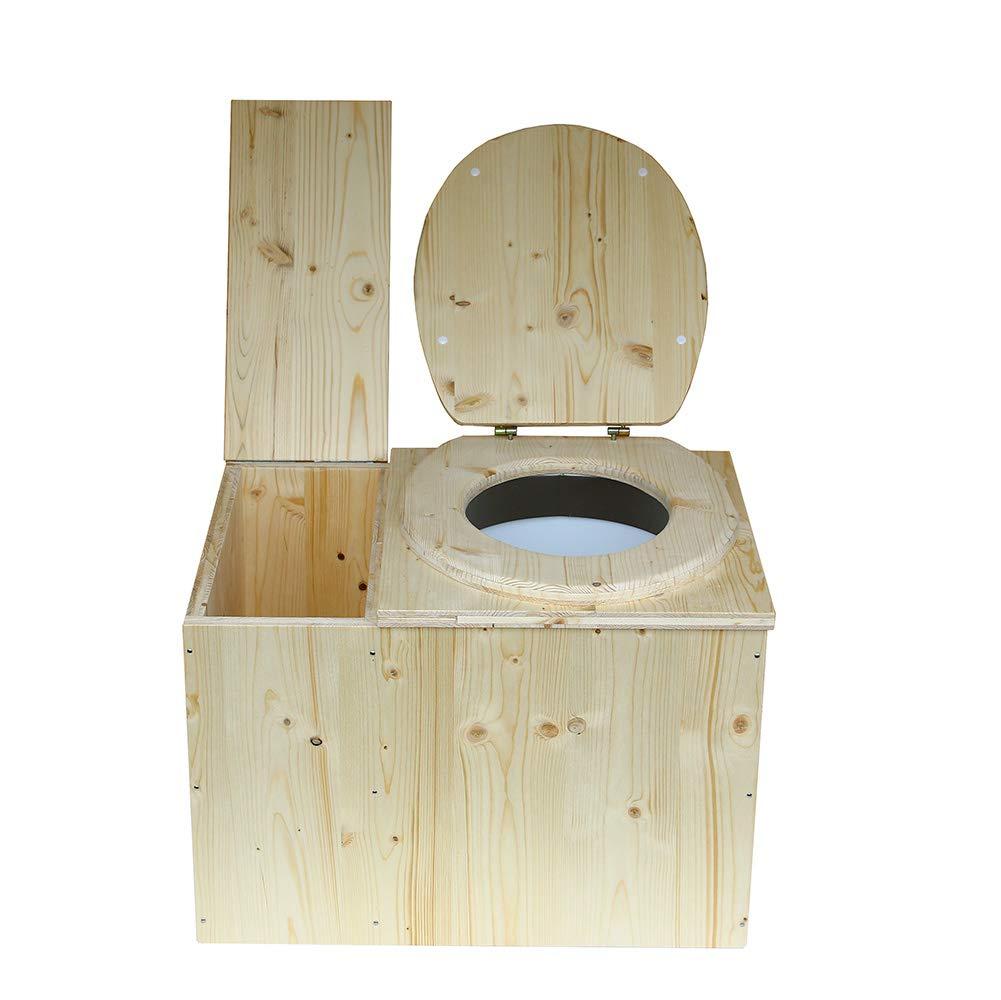 Toilette sèche avec bac à copeaux de Bois intégré